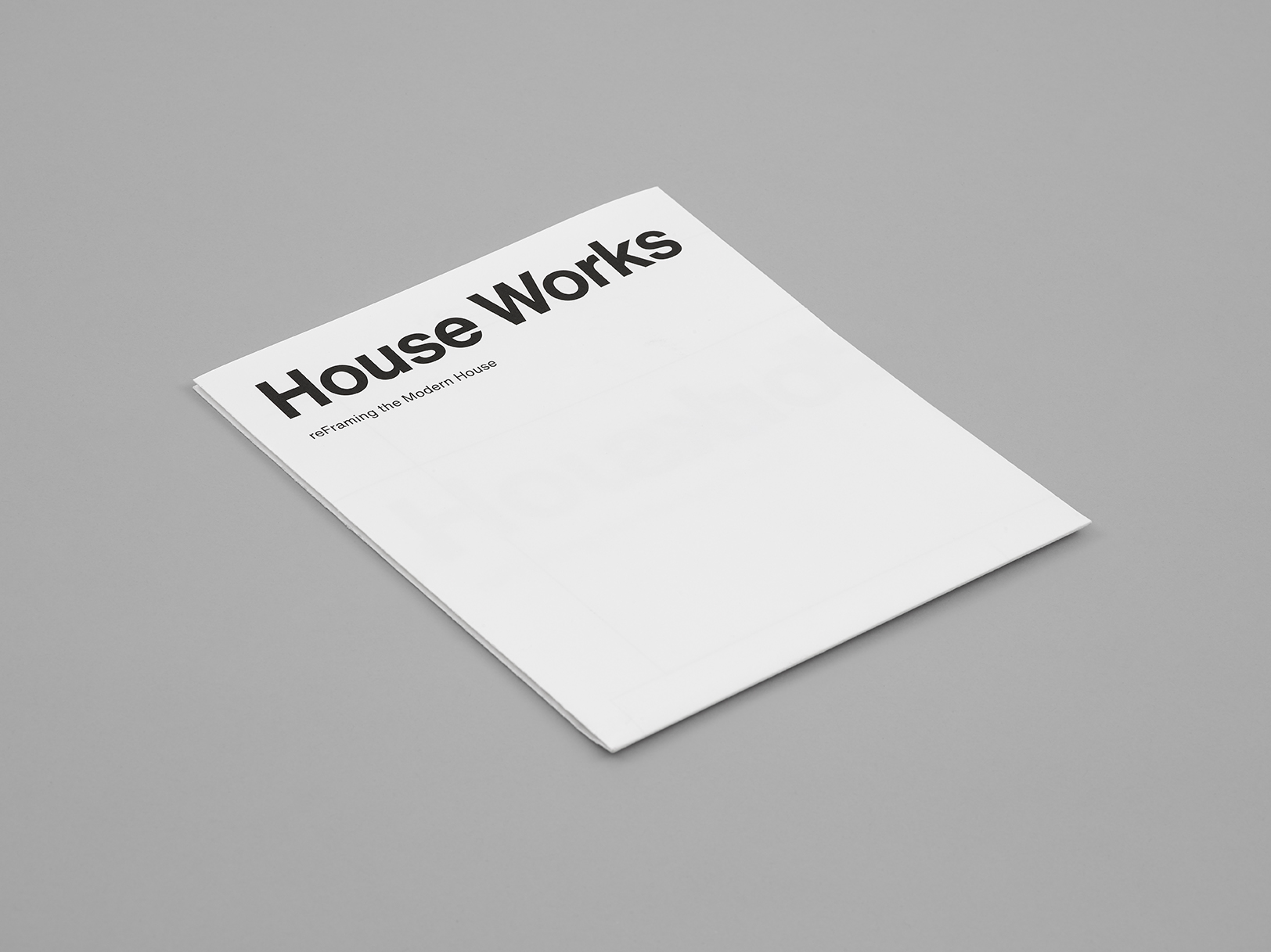 Houseworks: reFraming the Modern House – Cover